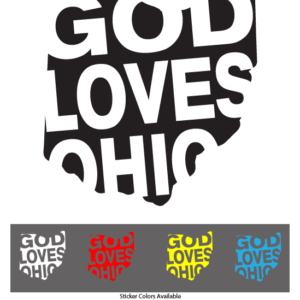God Loves Ohio Sticker